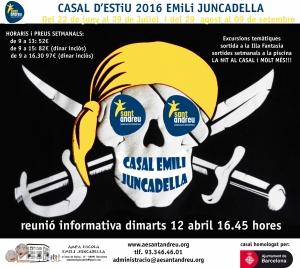 CARTELL EMILI JUNCADELLA 2016 reunio