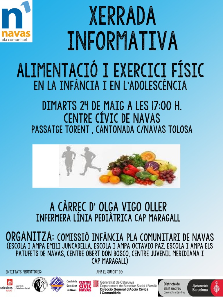 Cartell Alimentacio i exercici fisic
